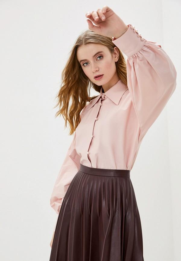 женская блузка с длинным рукавом francesco donni, розовая
