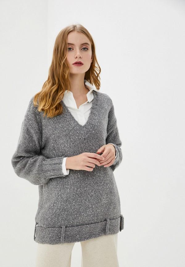 женский пуловер francesco donni, серый