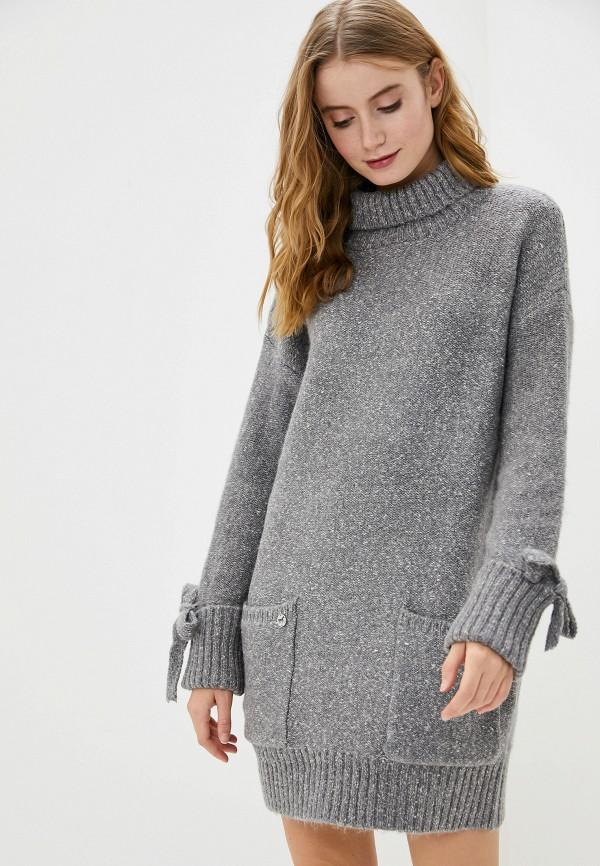 женское платье-свитеры francesco donni, серое