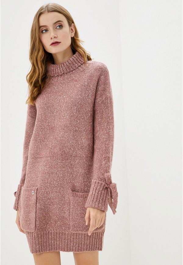 женское платье-свитеры francesco donni, розовое