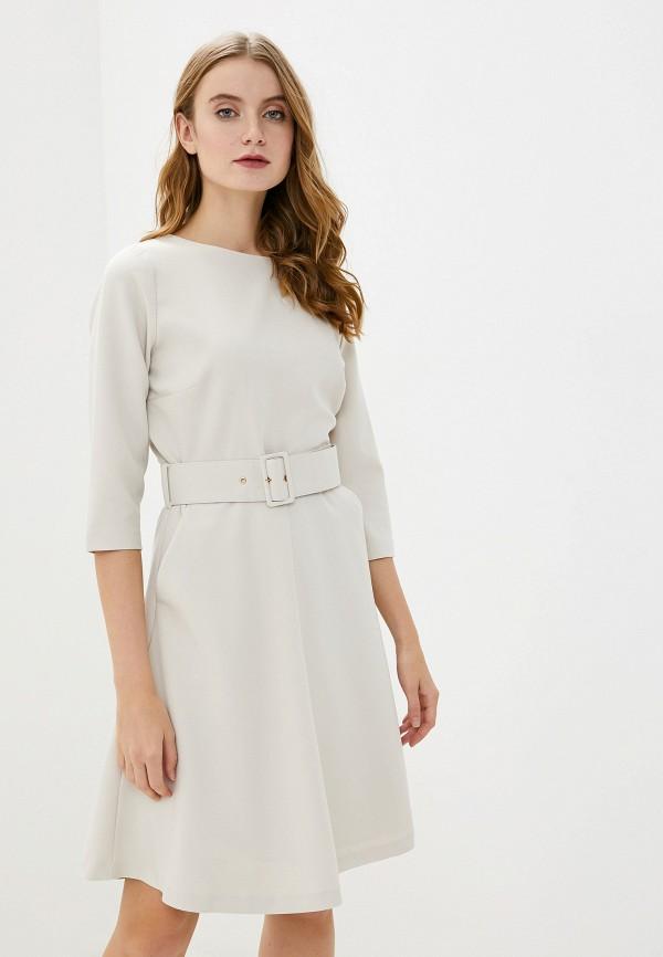 женское платье миди francesco donni, белое