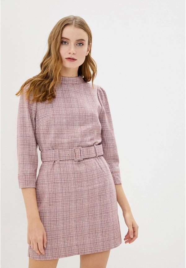 женское платье миди francesco donni, розовое