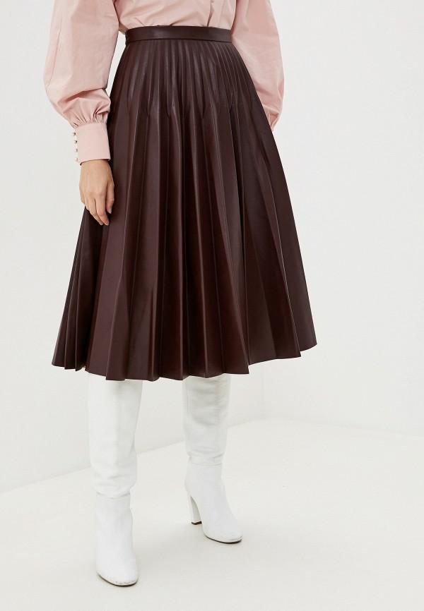 женская юбка миди francesco donni, бордовая