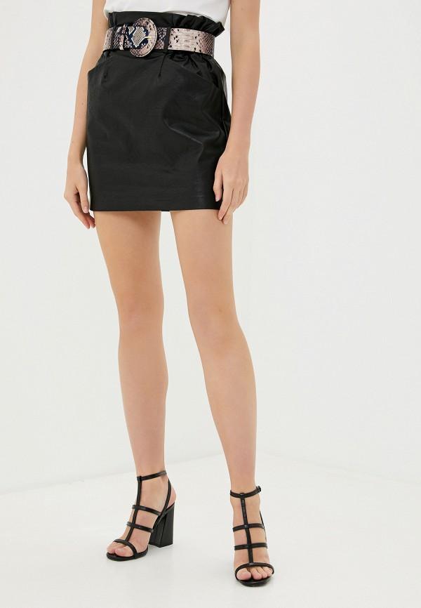 женская юбка миди francesco donni, черная