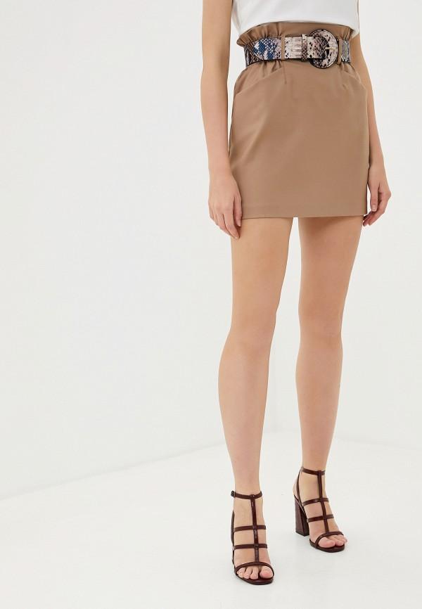 женская юбка миди francesco donni, бежевая