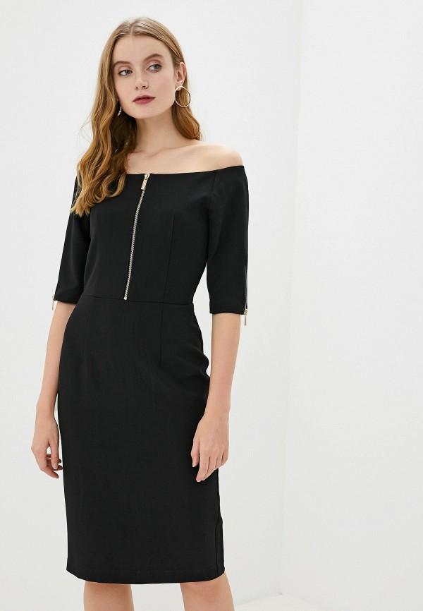 женское платье миди francesco donni, черное