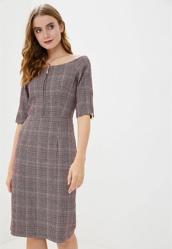 женское платье миди francesco donni, бордовое