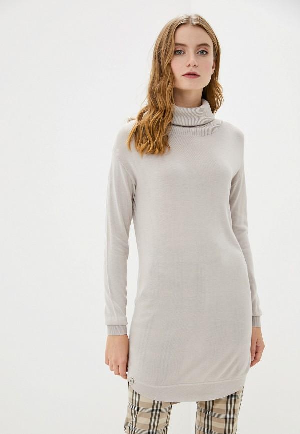 женское платье-свитеры francesco donni, бежевое