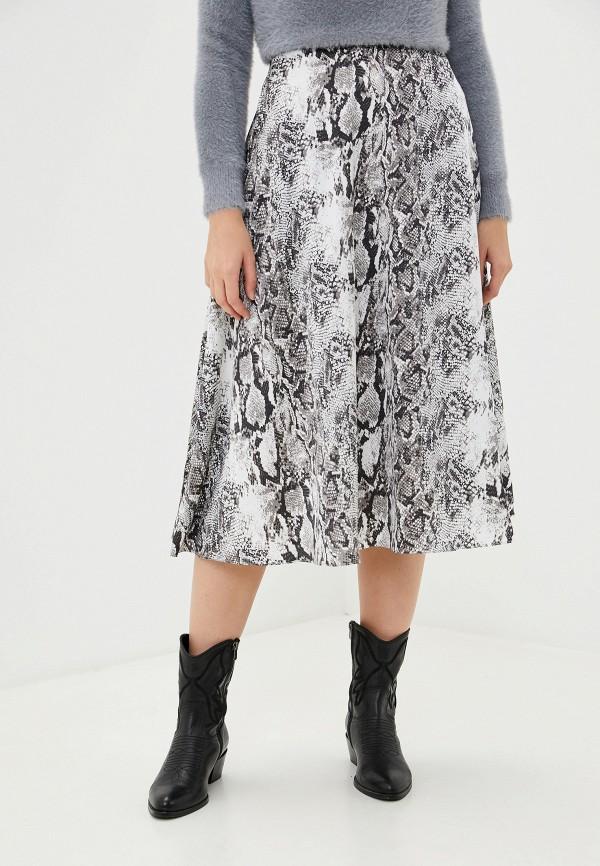 женская юбка-трапеции francesco donni, серая
