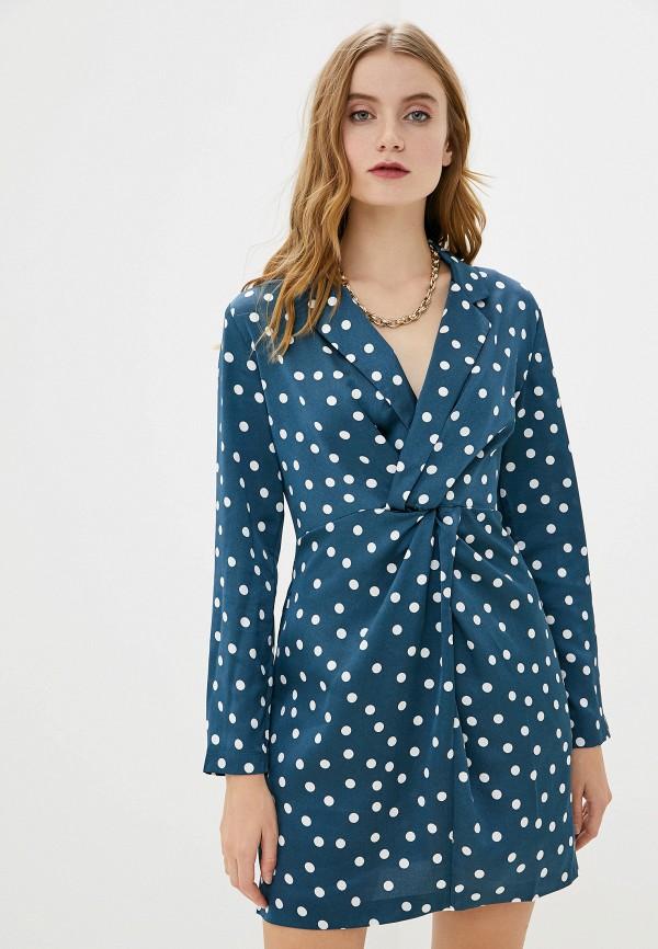 женское платье миди francesco donni, голубое
