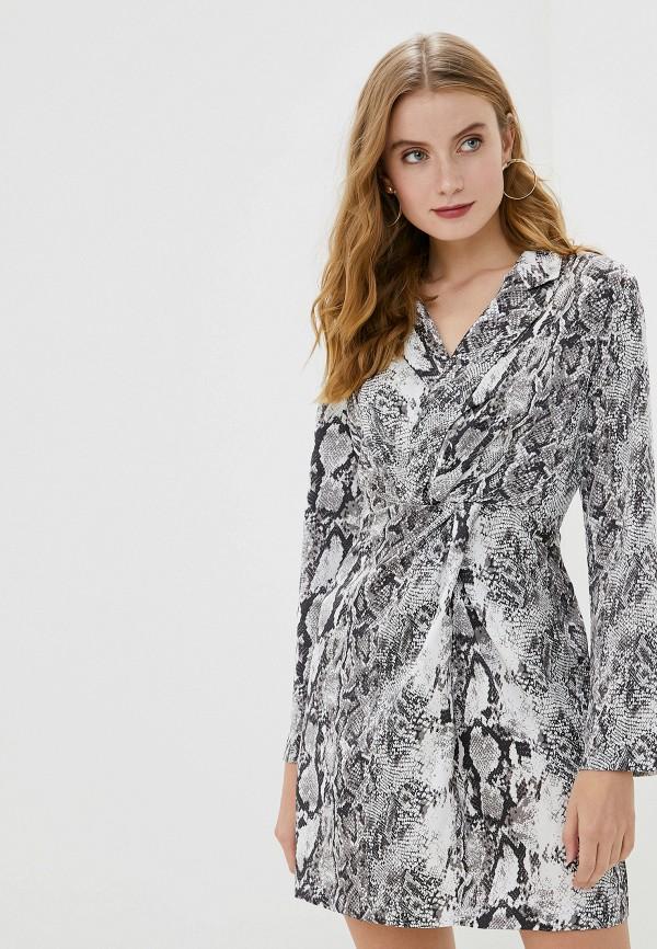 женское платье миди francesco donni, серое