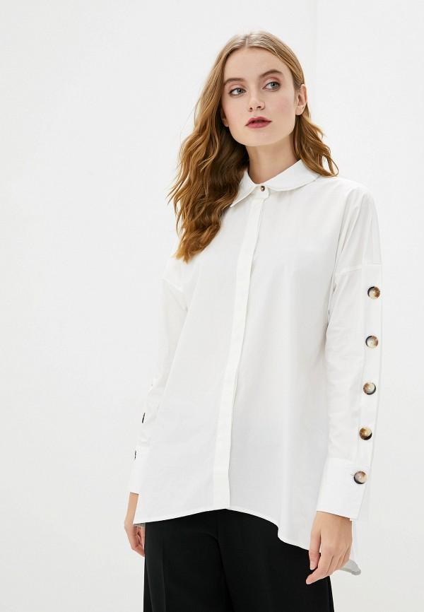 женская блузка с длинным рукавом francesco donni, белая
