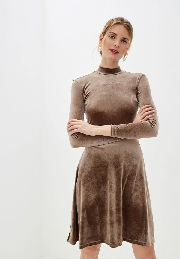 Платье Anastasya Barsukova Anastasya Barsukova  коричневый фото