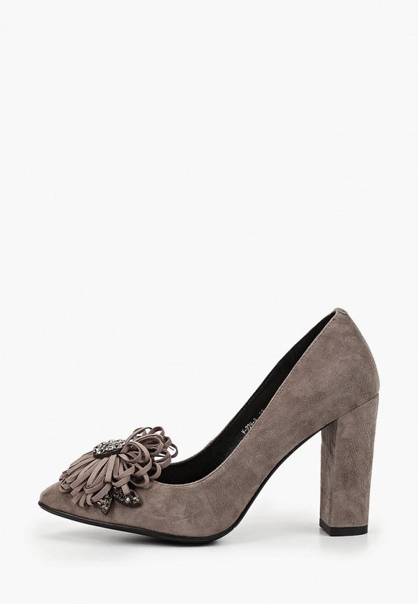 женские туфли с закрытым носом stivalli, серые