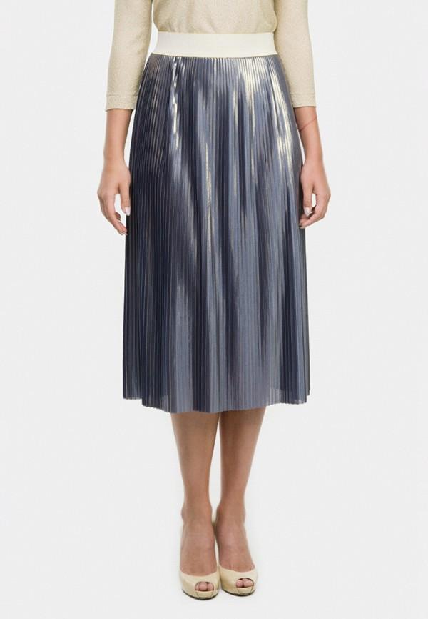женская юбка-трапеции vera moni, серая