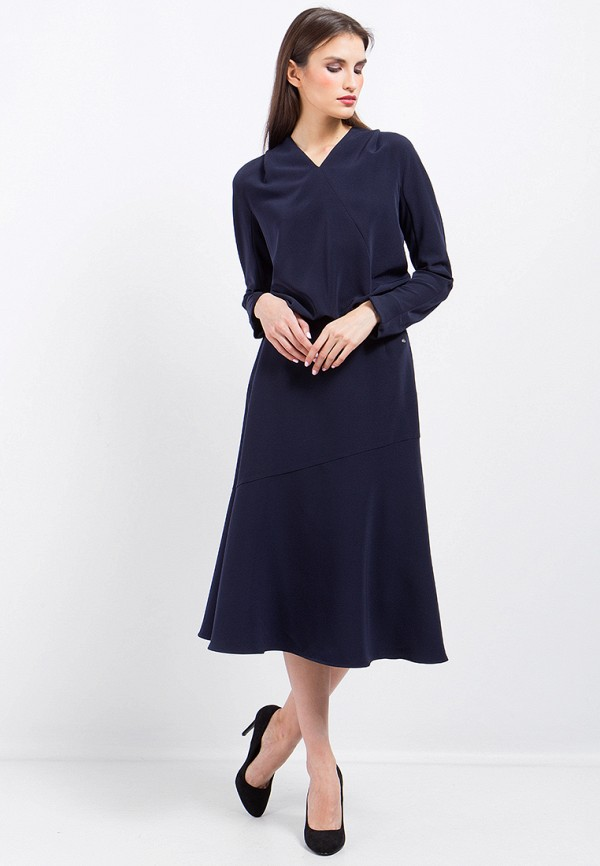 Купить Платье Finn Flare, CHAPURIN for FINN FLARE, MP002XW0ZZLQ, синий, Осень-зима 2017/2018