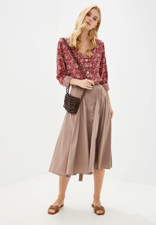 Фото 2 - Женскую юбку Victoria Kuksina бежевого цвета