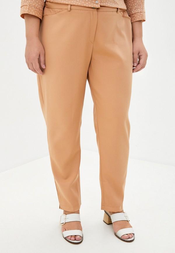 женские зауженные брюки prewoman, бежевые