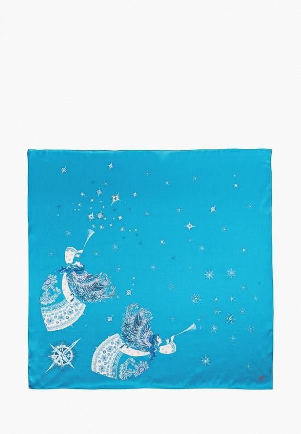 женский платок oliz, голубой