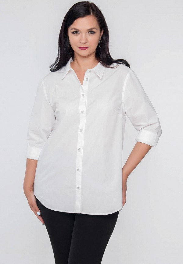 женская рубашка с длинным рукавом limonti, белая