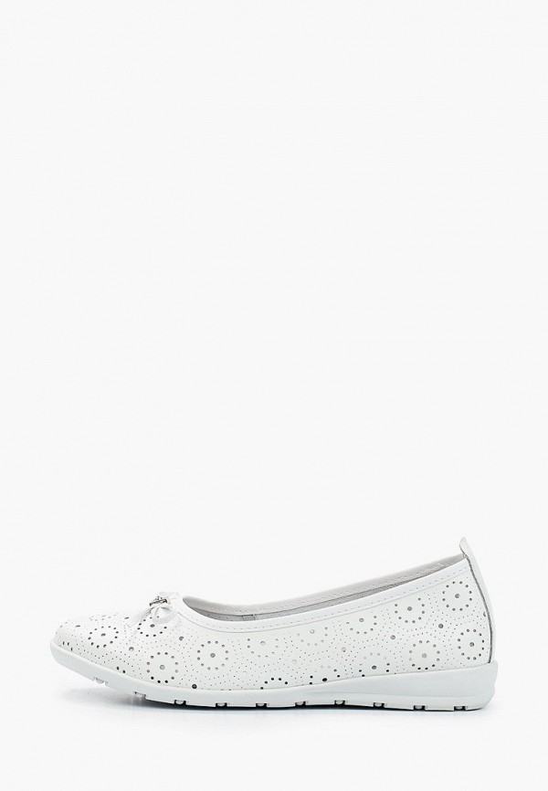 женские туфли с закрытым носом zenden comfort, белые