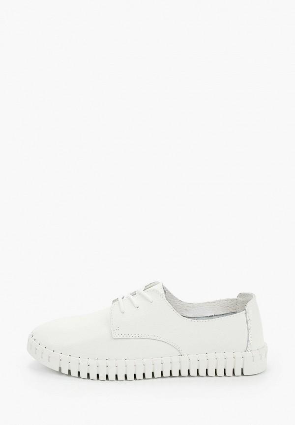 женские ботинки-оксфорды zenden woman, белые