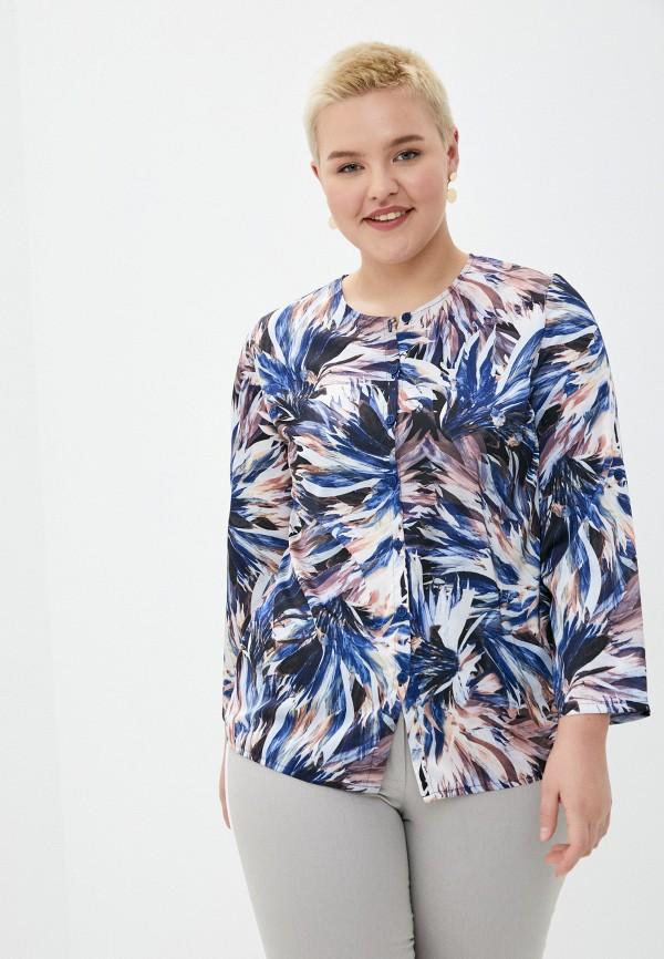 женская блузка с длинным рукавом le monique, синяя