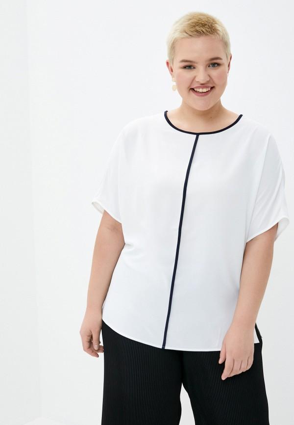 женская блузка с коротким рукавом le monique, белая