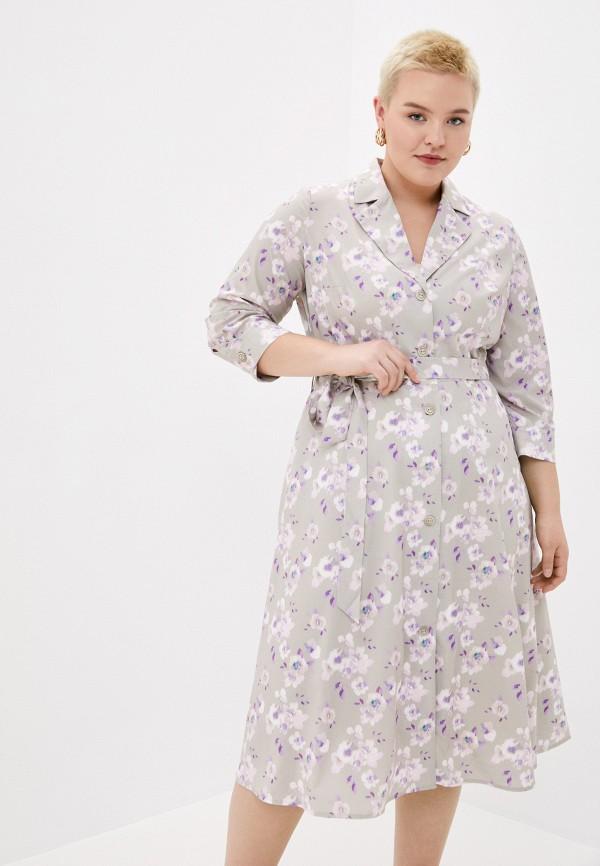 женское повседневные платье le monique, серое
