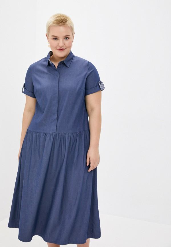 женское повседневные платье le monique, синее