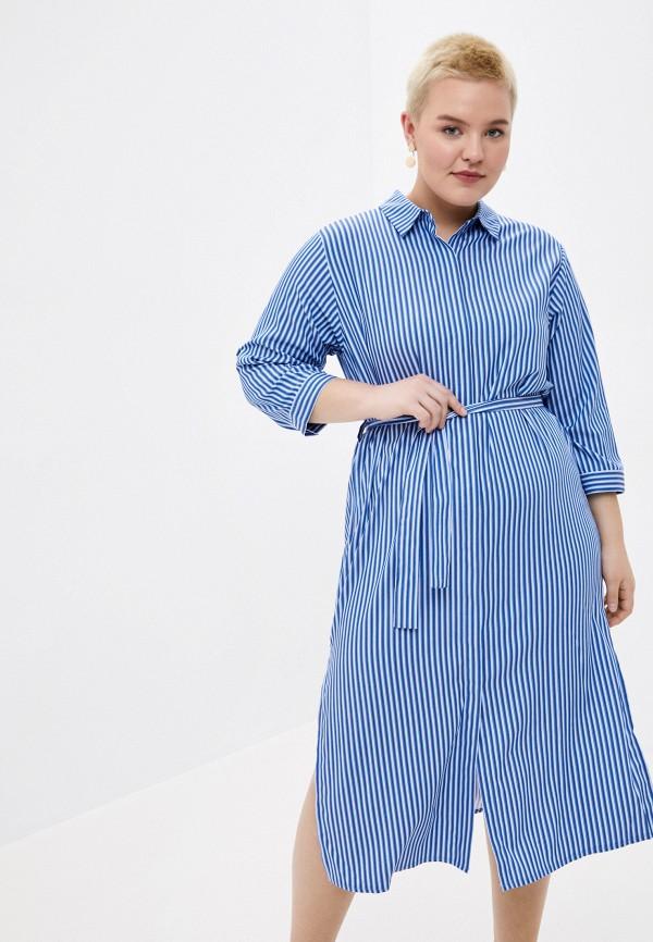 женское платье-рубашки le monique, синее