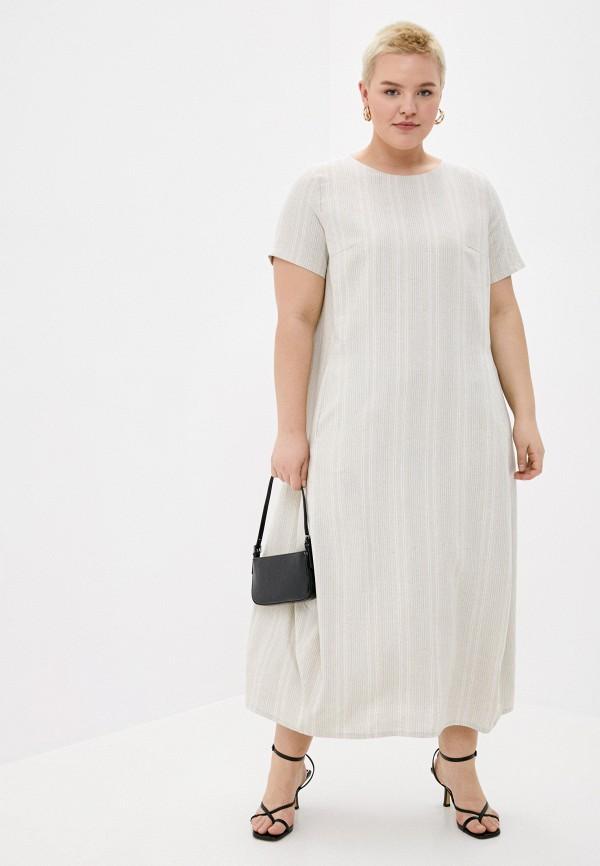 женское повседневные платье le monique, бежевое