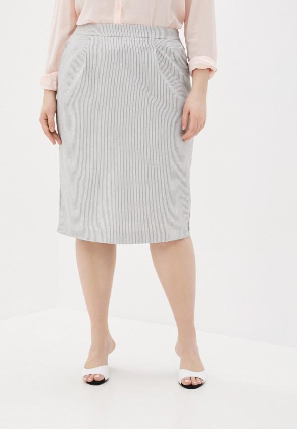 женская прямые юбка le monique, белая