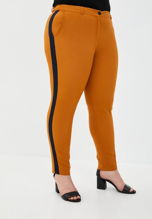 женские зауженные брюки le monique, коричневые