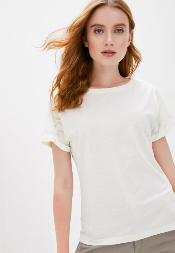 женская спортивные футболка merrell, белая