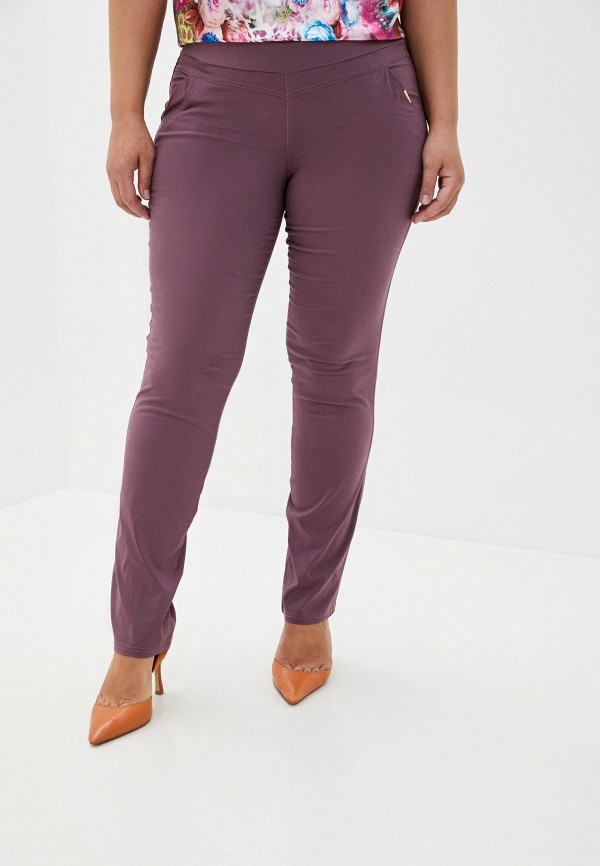 женские зауженные брюки полное счастье, розовые