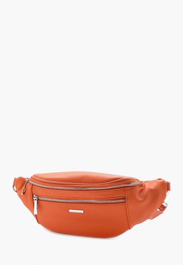женская сумка david jones, розовая