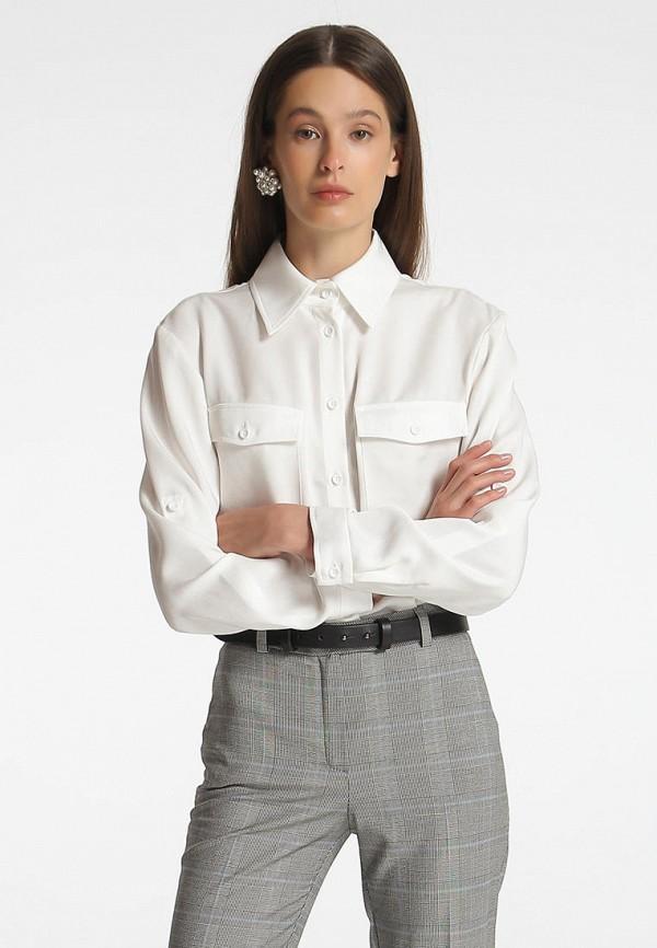 женская рубашка с длинным рукавом shako, белая