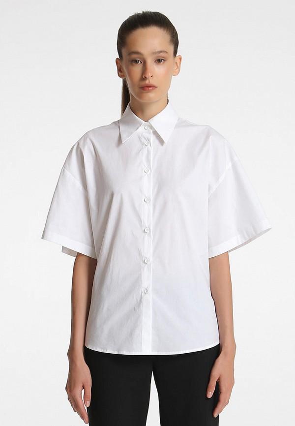 женская рубашка с коротким рукавом shako, белая