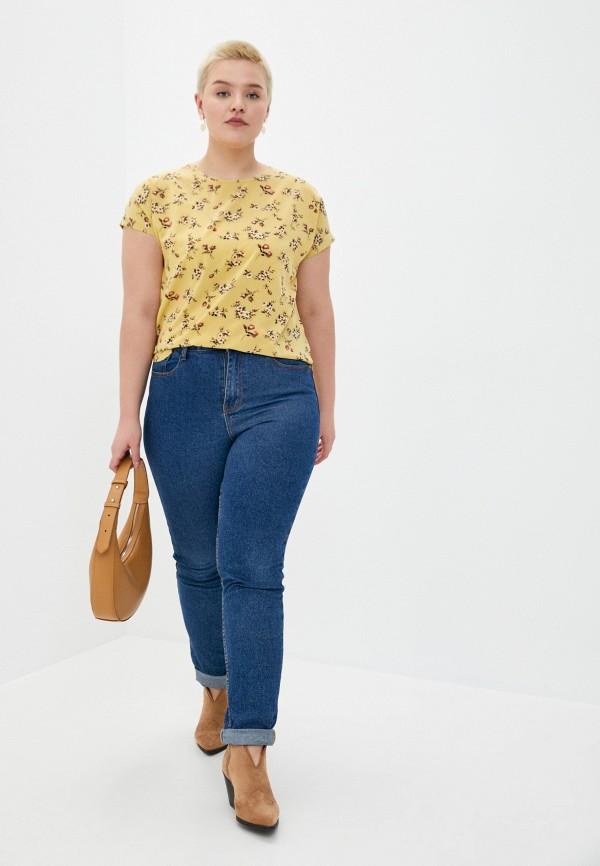 Блуза Стикомода цвет желтый  Фото 2
