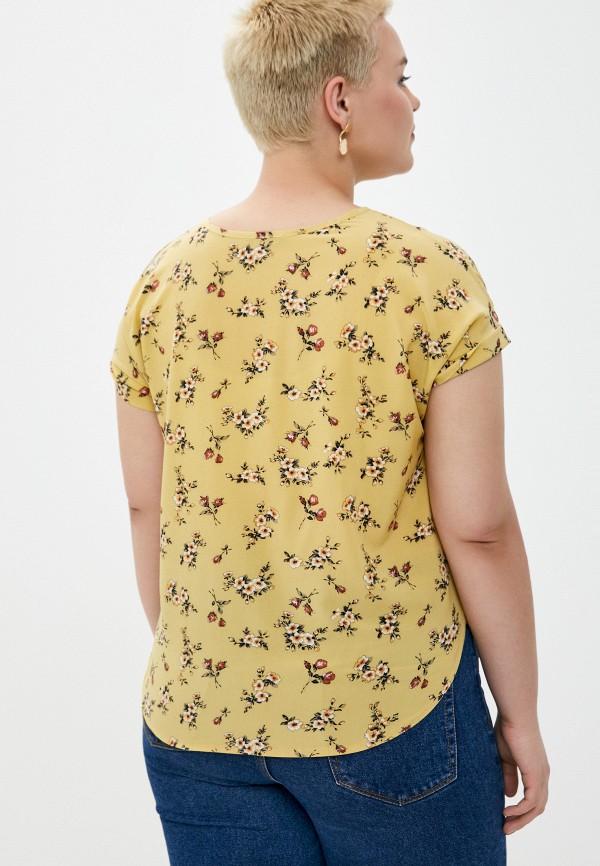 Блуза Стикомода цвет желтый  Фото 3
