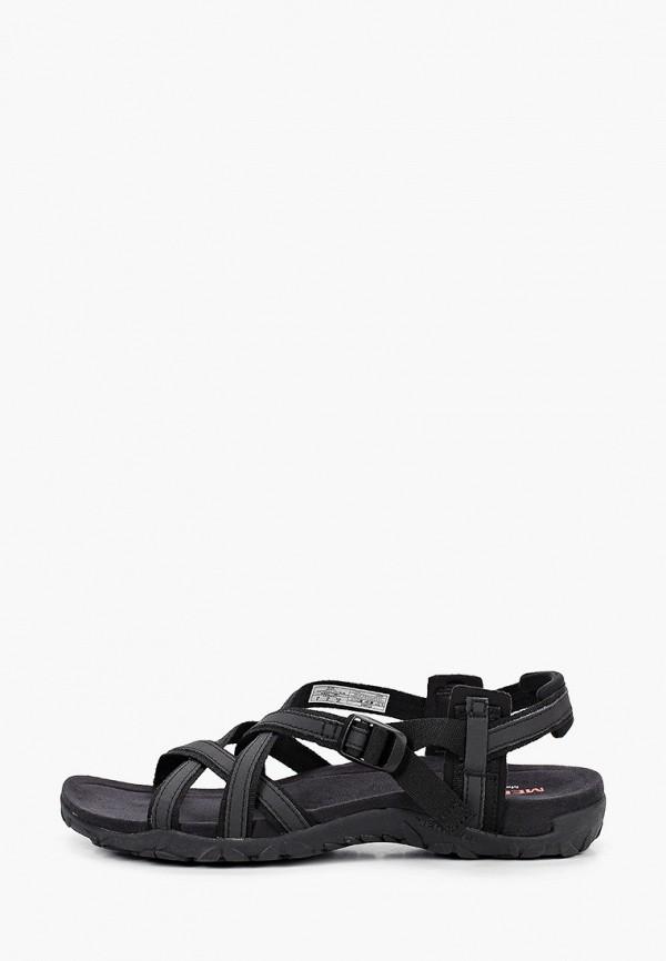 женские сандалии merrell, черные