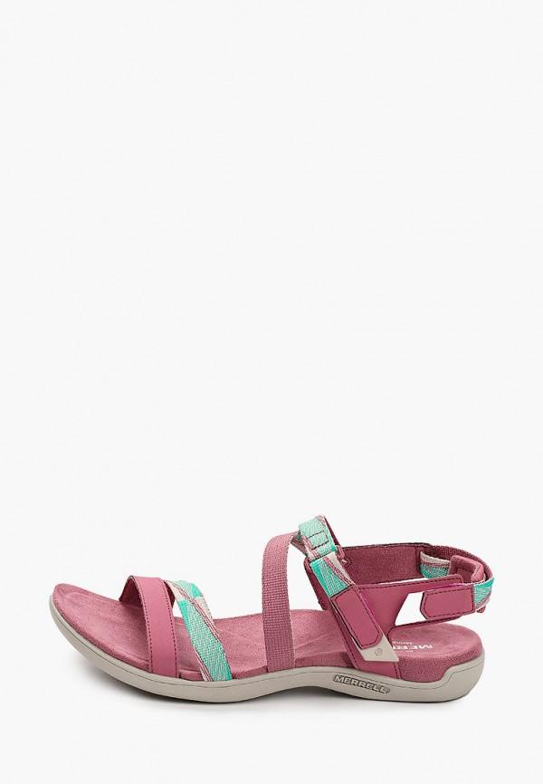 женские сандалии merrell, розовые