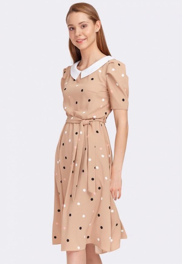женское повседневные платье cat orange, бежевое