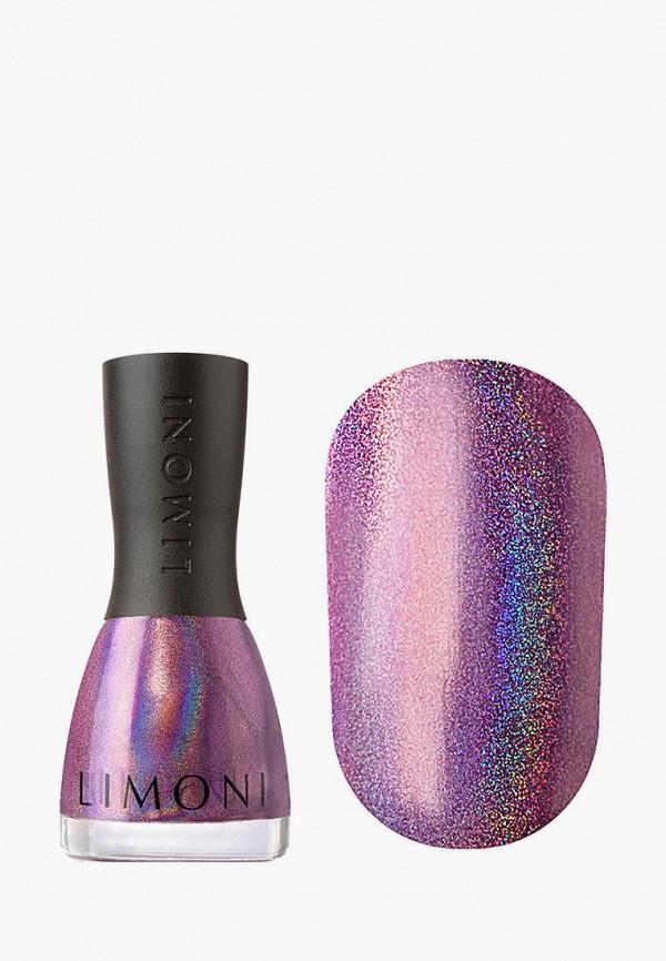 женский лак для ногтей limoni, фиолетовый