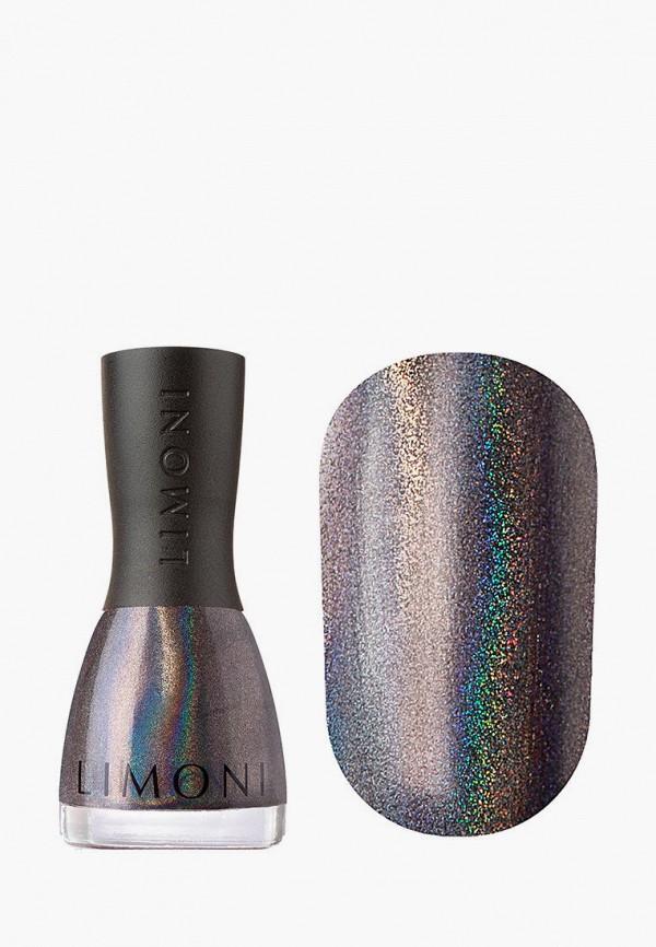 женский лак для ногтей limoni, серебряный