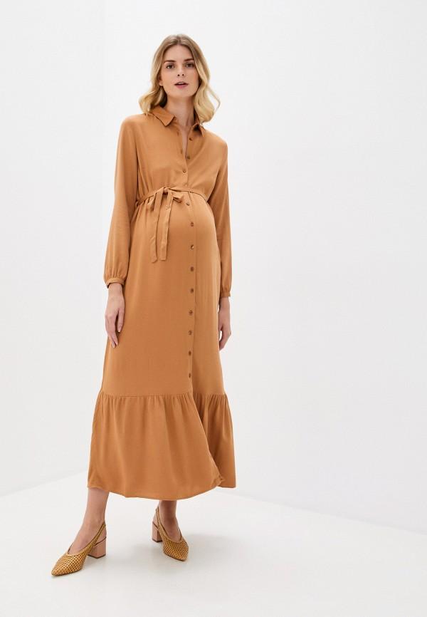 женское платье-рубашки lc waikiki, коричневое
