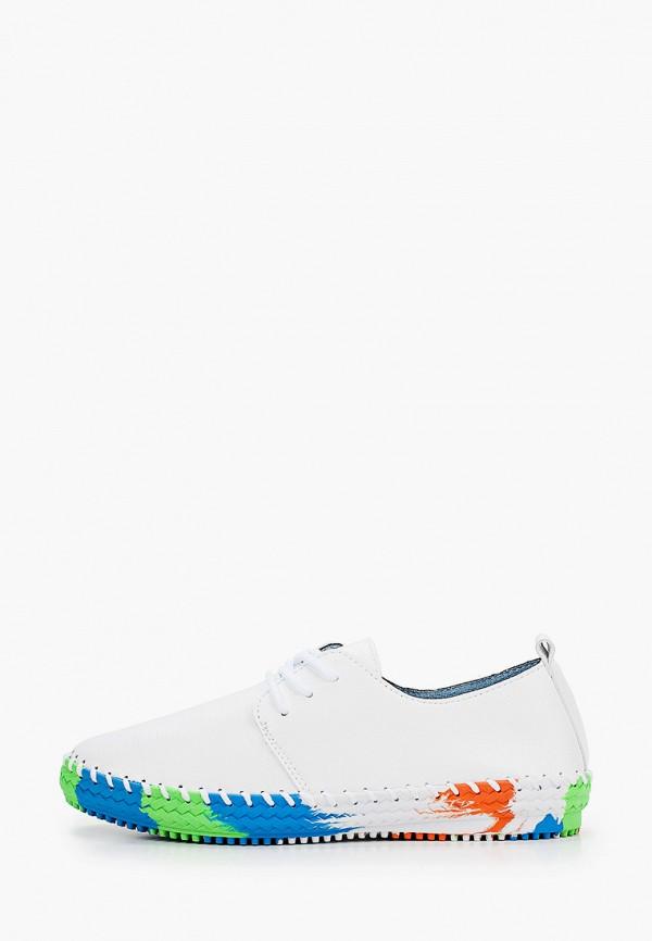 женские низкие ботинки zenden comfort, белые