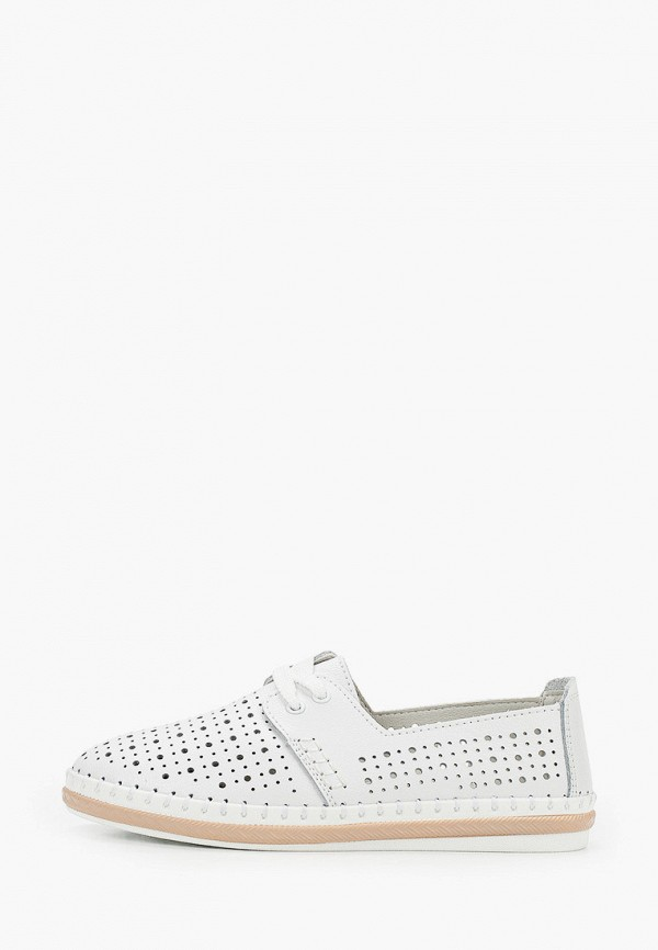 женские низкие ботинки zenden active, белые