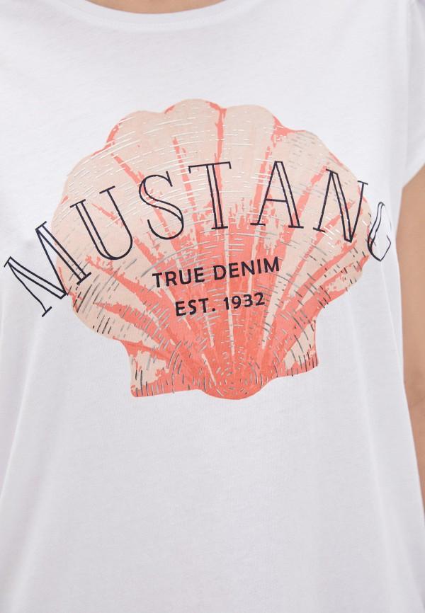 Футболка Mustang цвет белый  Фото 4